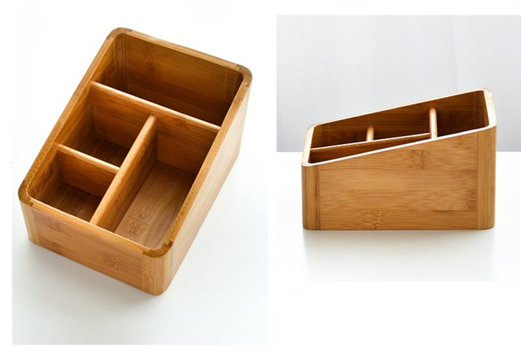 4 compartments bamboo desk organizer | Yi Bamboo| bamboo products