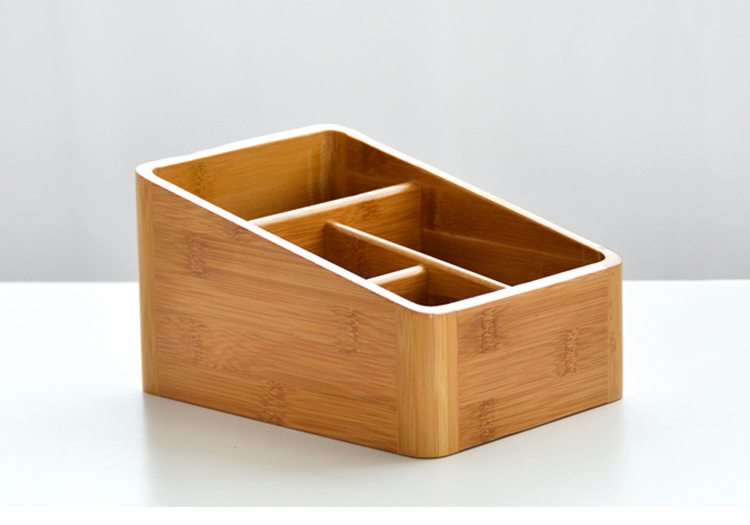 4 compartments bamboo desk organizer yi bamboo bamboo products - Bamboo desk organiser ...