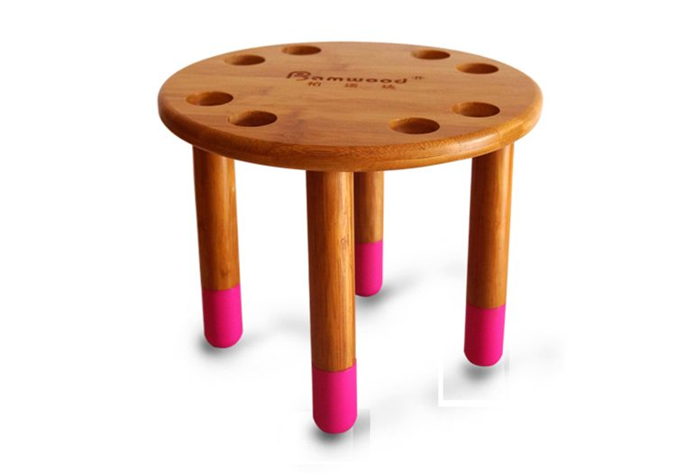 Bamboo bathroom stools for kids