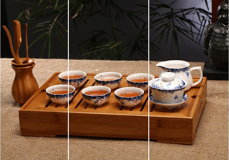 Gong Fu bamboo tea tray small medium large size