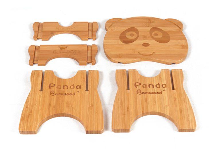 Panda shape kids stool