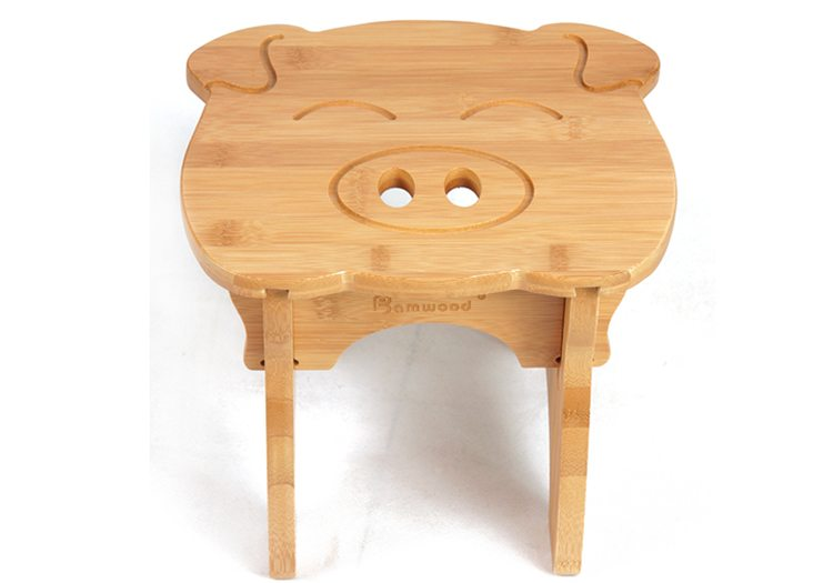 Piggy shape kids stool