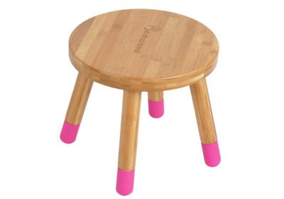Round bamboo low height stool