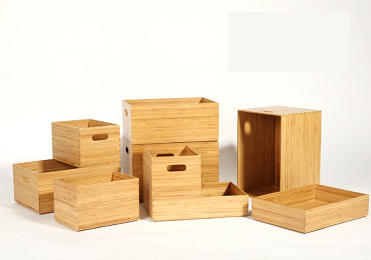 Stackable Bamboo Organizer Boxes (3)