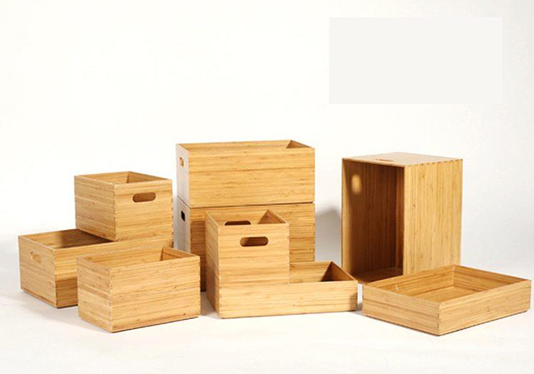 Stackable Bamboo Organizer Boxes (3)