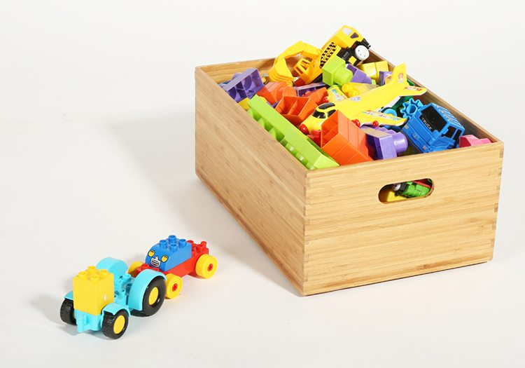 Stackable Bamboo Organizer Boxes