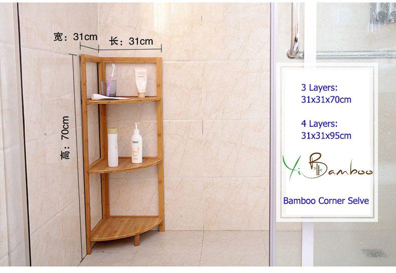 bamboo corner shelve