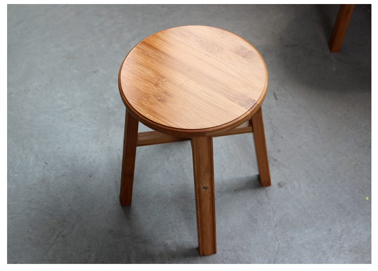 Bamboo bar stool counter bathroom stools yi