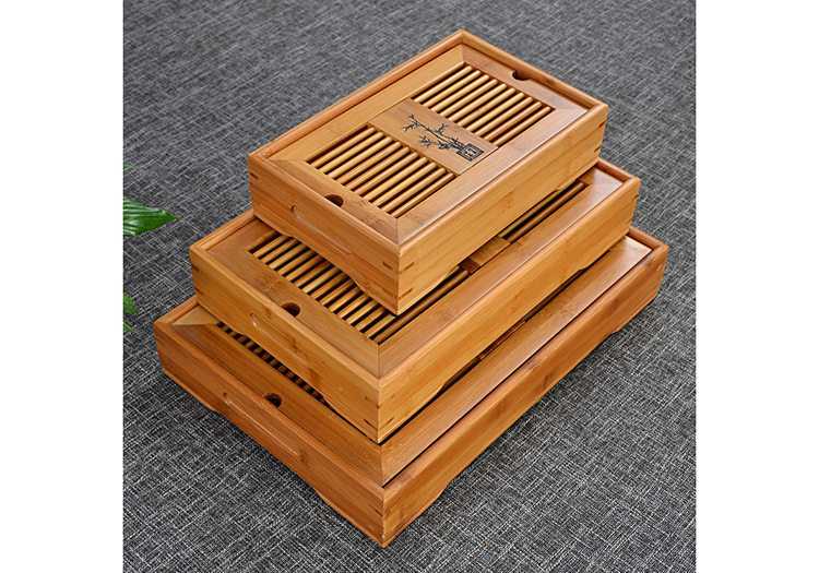 bamboo tea tray set