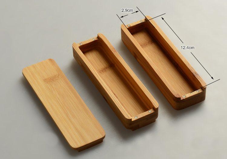 double layers bamboo storage box
