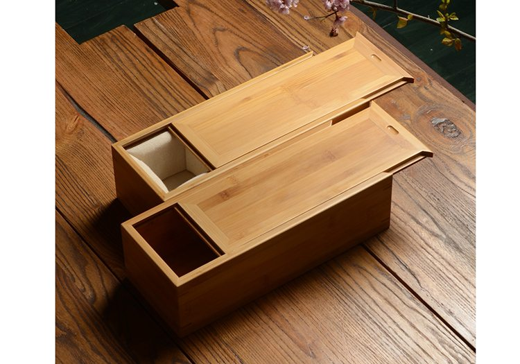 Wooden Storage Box With Sliding Lid