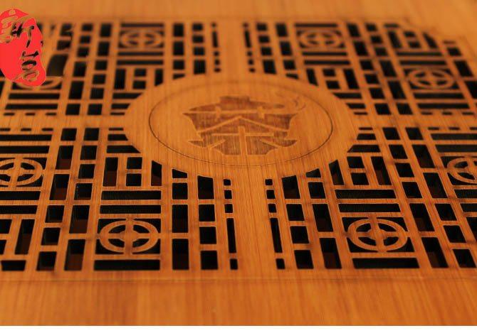 Bamboo laser engraved storage box for Pu Er tea cake