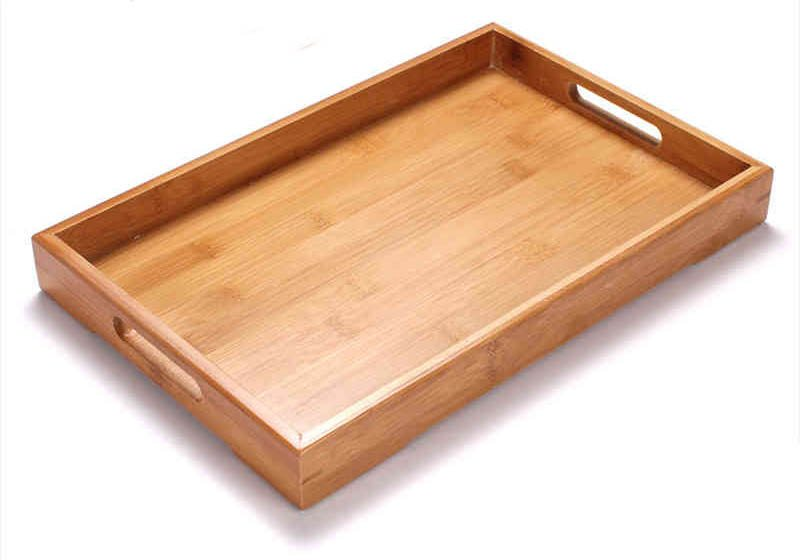 Flat design bamboo serving tray (1)