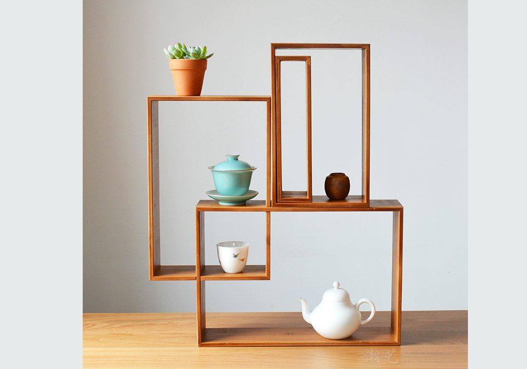 Tabletop shelves rack