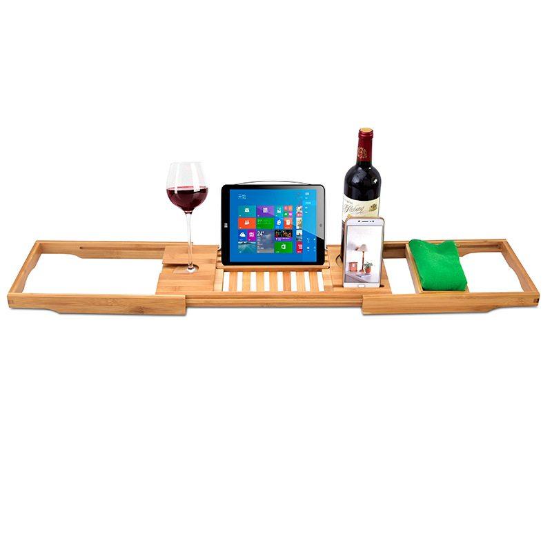 Adjustable Bamboo Bathtub Caddy wholesale – Yi Bamboo| bamboo products