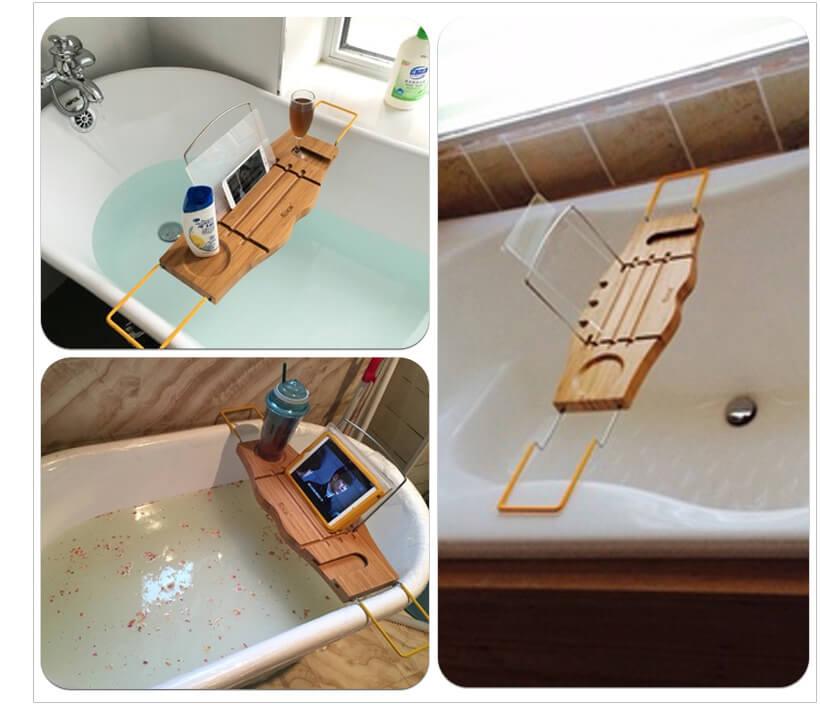 Bamboo Bath bridge BathTub Rack Shelf Tray – Yi Bamboo| bamboo products