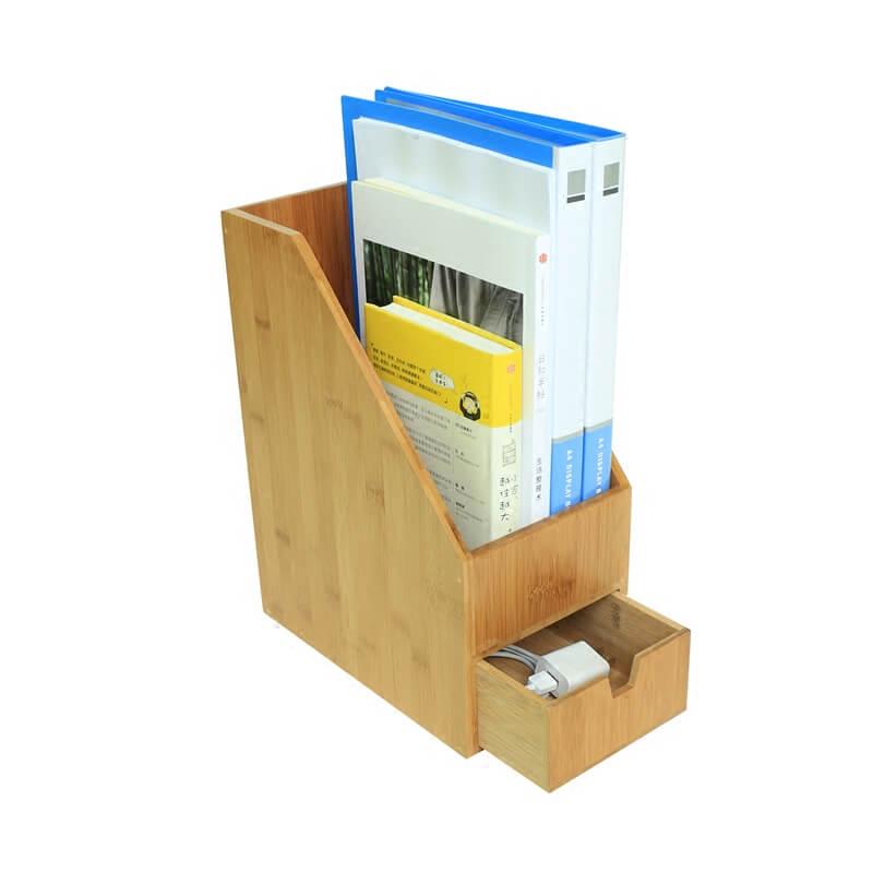 Bamboo File Rack Document Magazine Rack Organizer File Folder