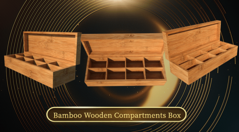 wooden compartments box