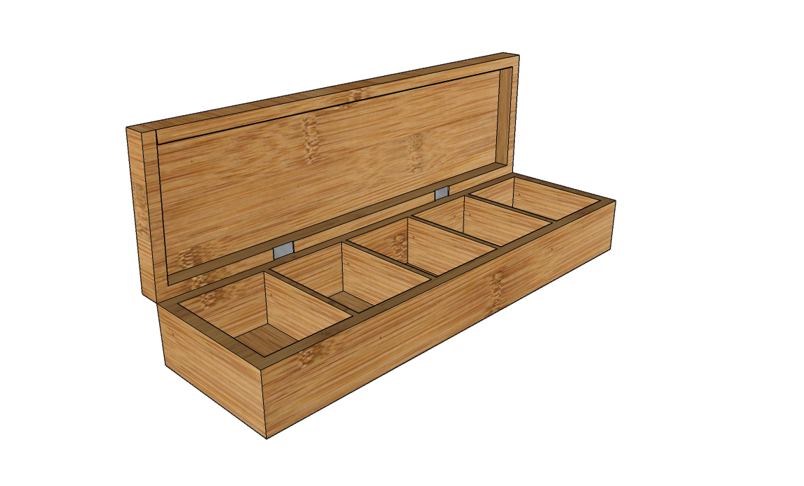 5-compartments tea display box