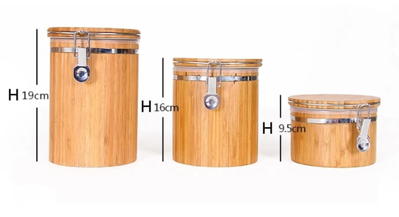 Bamboo air-tight canister