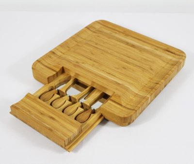 Bamboo 5 Piece Cheese Board Set