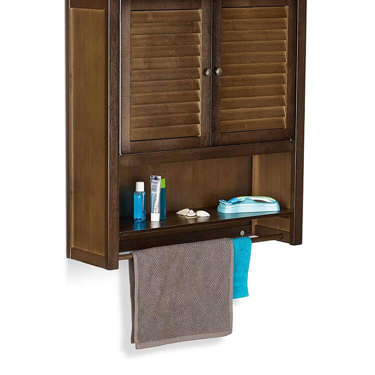 (Black) bamboo bathroom wall cabinet