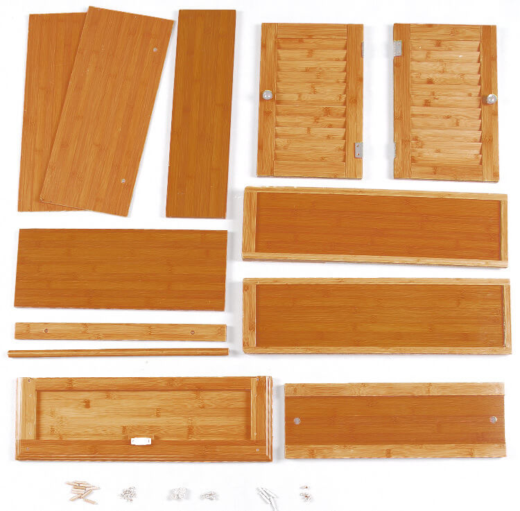bamboo bathroom wall cabinet assembly components