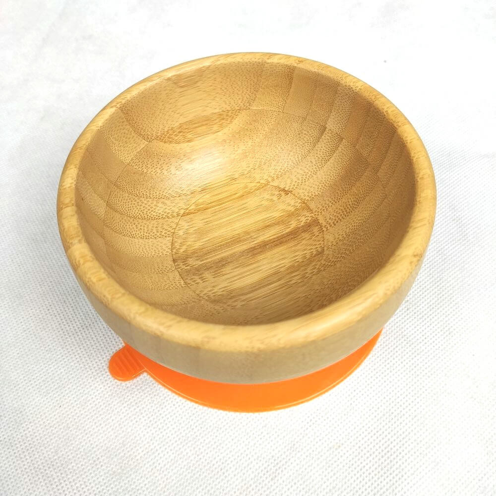 bamboo baby bowls with silicone spoon