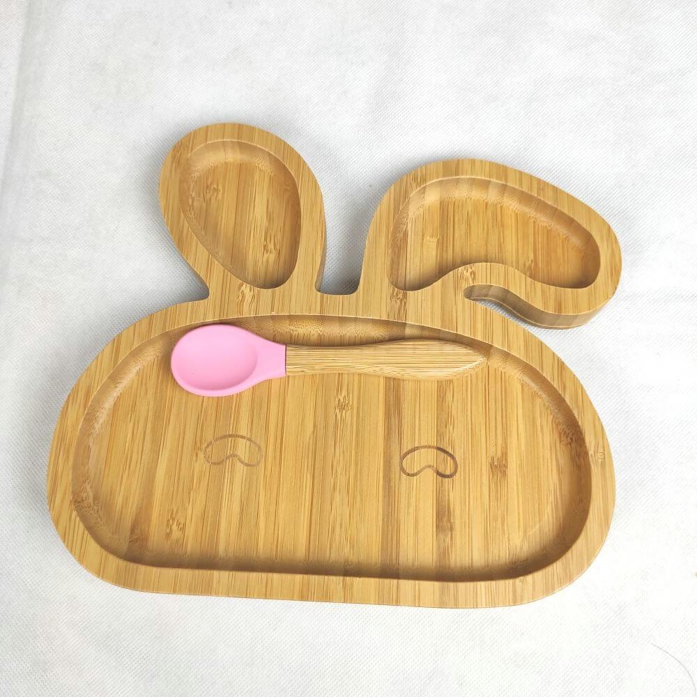 Bamboo baby plates -rabbit