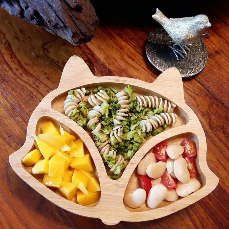 Fox shape toddler plates
