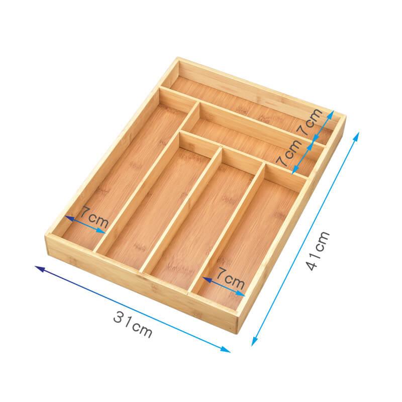 bamboo tray organizer
