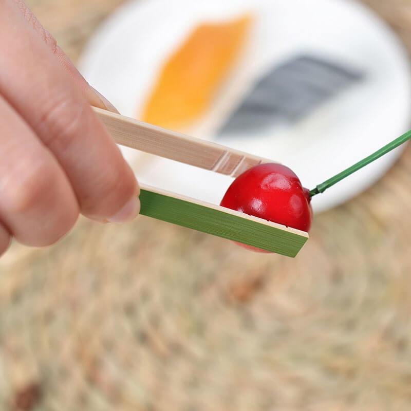 disposable mini bamboo tongs