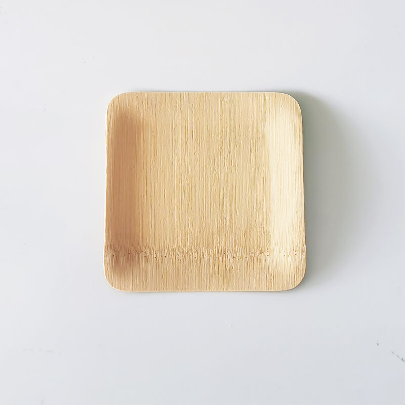 disposable bamboo trays-square
