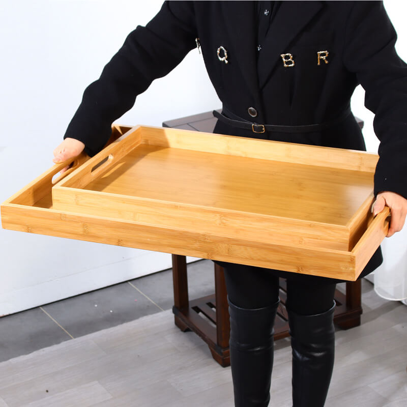 extra large bamboo serving tray